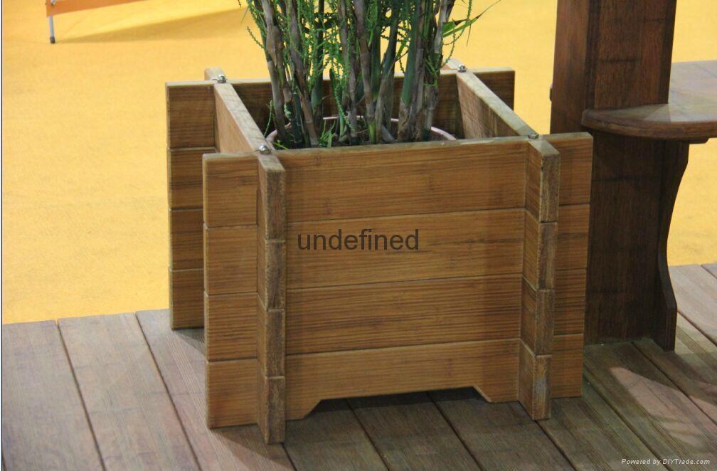 高耐碳化重竹木花箱 2