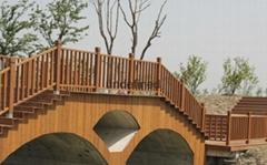 碳化防腐重竹木栏杆