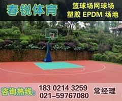 江陰學校籃球場鋪設