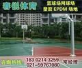 江陰學校籃球場鋪設 4