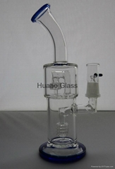 Classical 25cm height Glass smoking pipe Birdcage and two layer tyre percolators