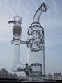 straight fab-2015 NEW height 27.5cm/21.5cm straight fab perc glass bongs joint s