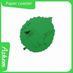 Customized shape with logo high quality paper coaster