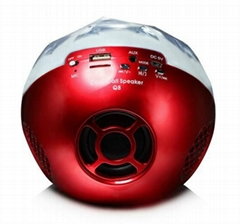 color ball bluetooth speaker with led flash light