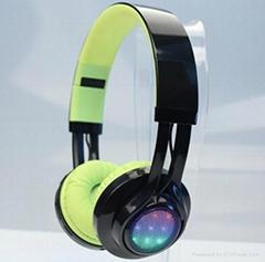 LED light wireless Bluetooth stereo headphones