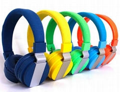 Mesh headband bluetooth stereo headset