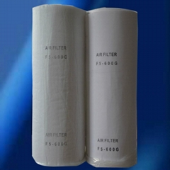 Polyester ceiling filter material