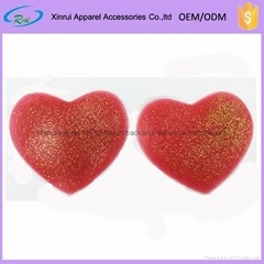 Red heart shape silicone nipple cover