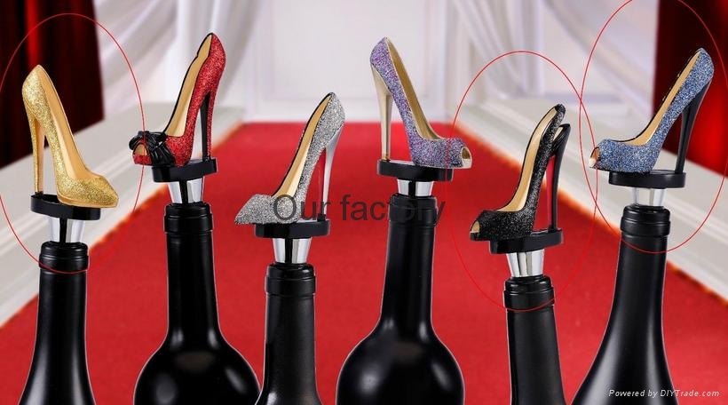 New Products 2017 Best Women Favors Fashion Y High Heel Shoe Wine Stoppers