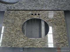 Giallo Santa Cecilia Granite Kitchen Countertop and Vanity tops