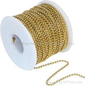 Gold Silver Plated Metal Ball Chain 1