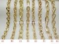 Gold Metal Bag Strap Chain For Handbag