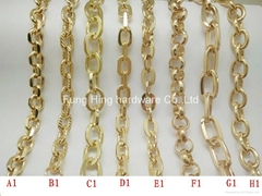 Gold Metal Bag Strap Chain For Handbag