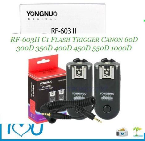 YONGNUO RF-603 II C1 Wireless Flash Trigger Shutter Release for Canon 60D 350D  4