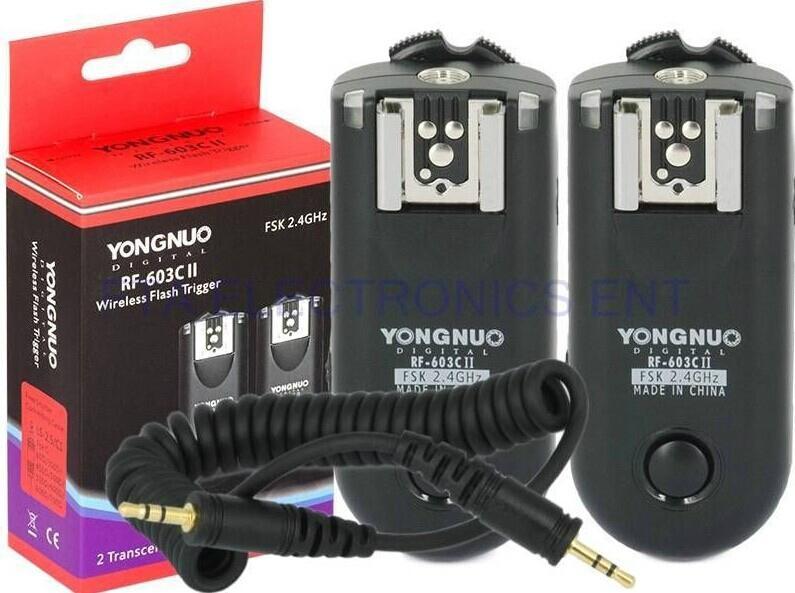 YONGNUO RF-603 II C1 Wireless Flash Trigger Shutter Release for Canon 60D 350D  5