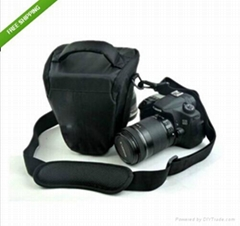 Nylon Exterior soft internal fabric Waterproof Shoulder triangle Camera bag