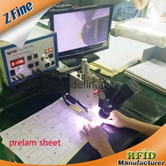 RFID prelam sheet for ISO 14443A smart card