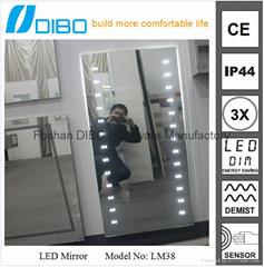 Foshan factory demister bathroom mirror china