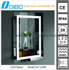 5mm copper free glass mirror touch screen mirror