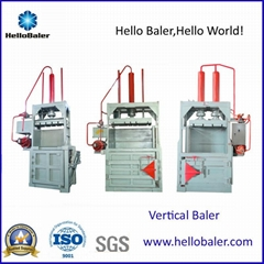 Hello Baler vertiacal baling machine for plastic and pet bottles