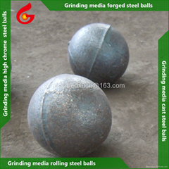 2.5 inch High chrome cast grinding media steel balls for cement and mining