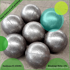 50mm High Chrome Cast Grinding Media Steel Ball for Mining and Ball Mill