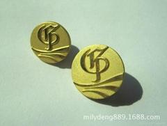 鍍真金鋅合金金屬徽章