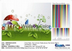 ECO-solvent high-glossy non-woven fabric