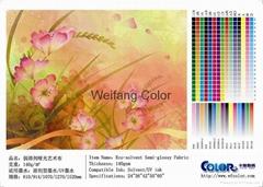 :ECO-solvent Semi-glossy fabric ,Weak solvent art cloth