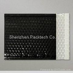 Black full color poly bubble mailing envelopes