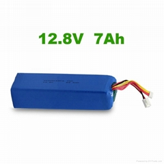 LiFePO4 7Ah 12.8V lithium ion battery pack rechargeable for solar light syste