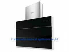 900mm Tempered glass panel cooker hood (SL-CXJ-13)