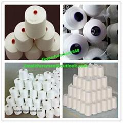 100% spun polyester yarn 20s