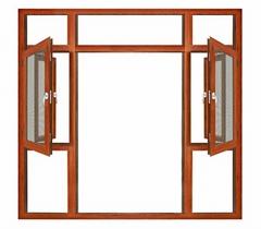 100mm thermal break aluminium casement window made in China