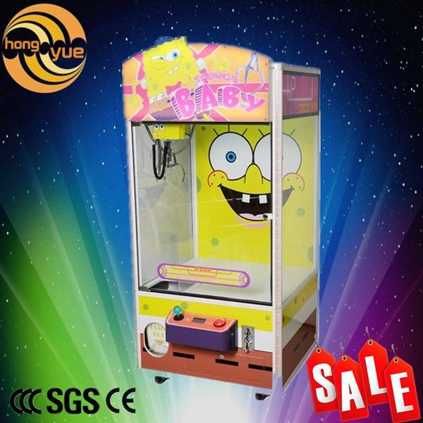 Children game cute Sponge Baby image mini candy toy doll claw crane game machine 1