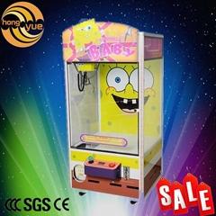 Children game cute Sponge Baby image mini candy toy doll claw crane game machine