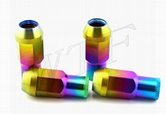 titanium lug bolt and nut