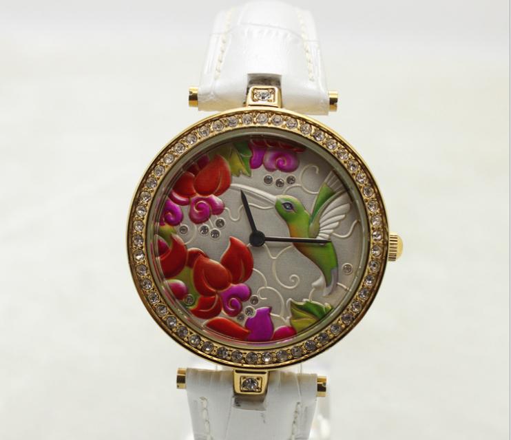 歐美時尚女款真皮防水手錶 2