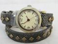 韓版女士仿陶瓷彩繪手錶