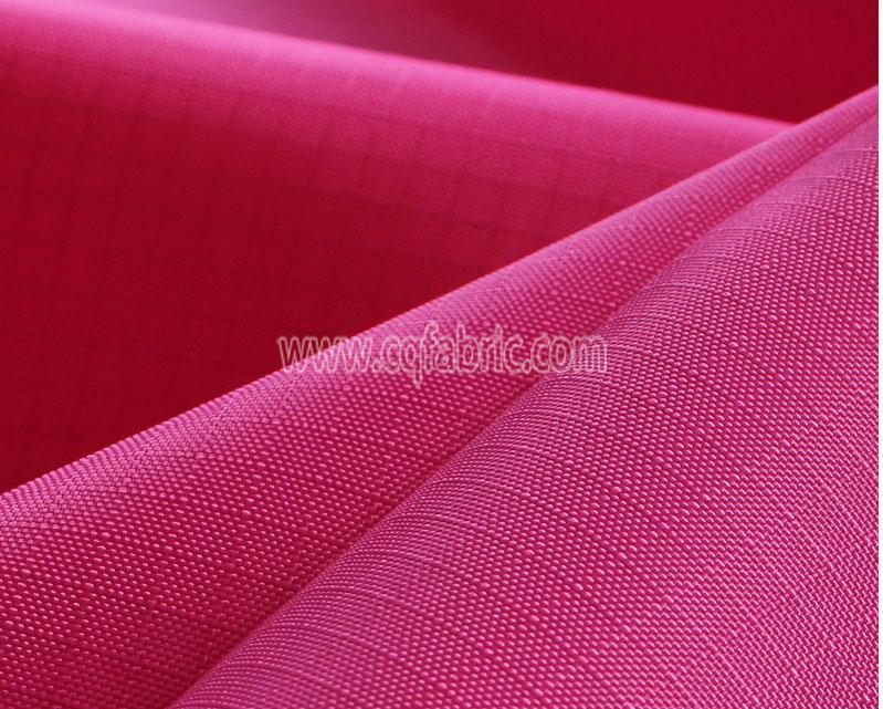 Hot Sale 150D RED Rip Stop PA Coated 0.5cm Rip Stop Polyester Oxford Fabric for  2