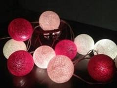 12v cotton string light balls led ball string light thai handmade fairy string l