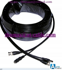 CCTV Cable RG59+2C, RCA+BNC+DC, Audio Video Power Camera Cable