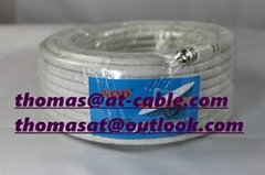 Set Top Box Wire RG6 Wit