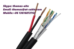 IP Camera CCTV Cable Outdoor FTP CAT5E+2C UV-PE (Hot Product - 1*)