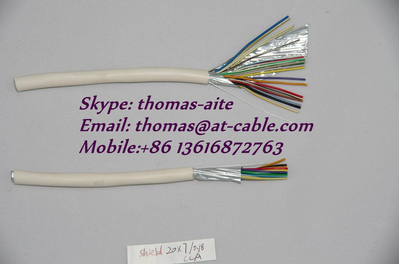 Single Shielded 0.22mm² Solft Alarm Cable