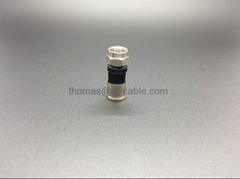 F Male Compression connector with Black Colloidal Cove