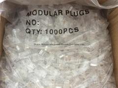 UTP CAT6 Modular Plug 1U/2U/3U Gold Plated 1000PCS / Bag