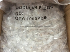 UTP CAT6 Modular Plug 1U/2U/3U Gold Plated 1000PCS / Bag