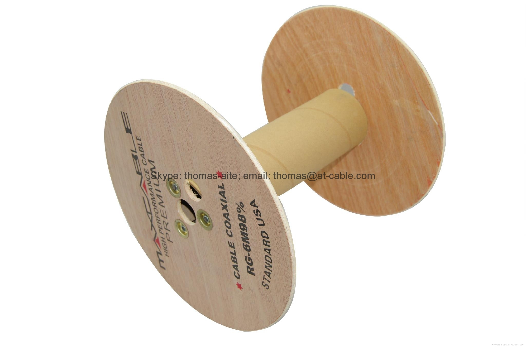 wooden drum for 305m RG59/ RG6/ RG11