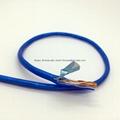 Transparent Blue PVC FTP CAT5E NetWorking Computer Cable
